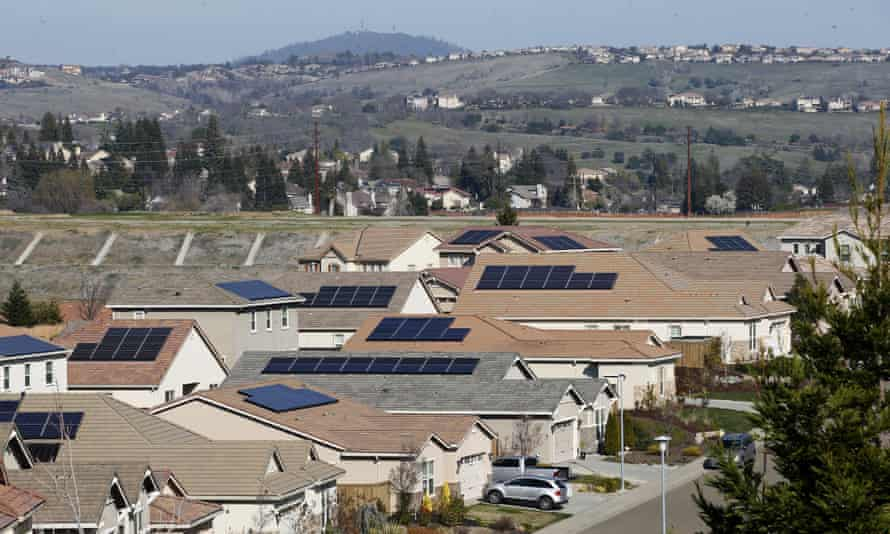 El Dorado Hills, California, the site of a protest monitored by the state national guard.