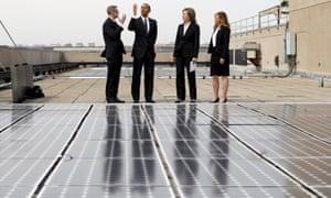 Barack Obama  solar panels