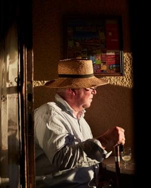 Fergus Henderson outside Gilbert's, his favourite bar