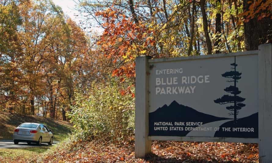 Entrance to the Blue Ridge Parkway, near Roanoke, Virginia