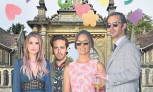 Pippa Middleton with James Matthews, his brother Spencer and Vogue Williams