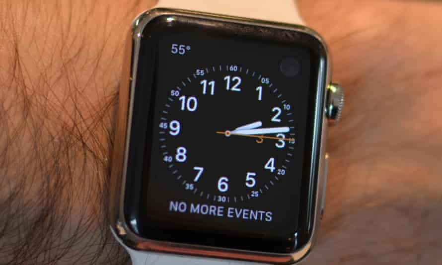 The (very) dear departed Apple Watch, with the much-loved Dark Sky complication in the top left.