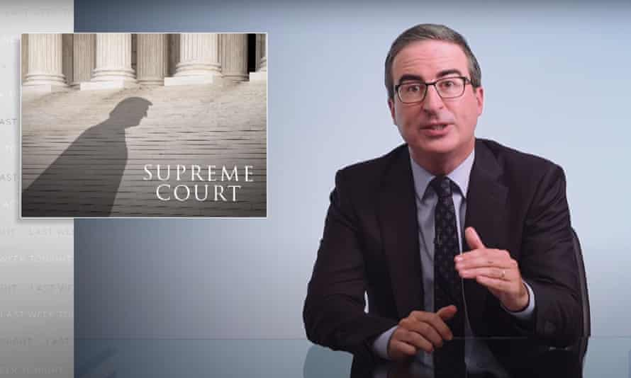 """John Oliver: """"The Supreme Court is about to lurch to the right for the foreseeable future, and if things seem hopeless right now, it's because, to be completely honest, they basically are."""""""