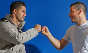 Brighton's Israeli footballers Beram Kayal (left) and Tomer Hemed