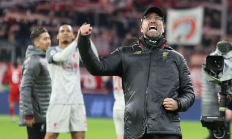 Jürgen Klopp says Liverpool are back on the map after win over Bayern Munich