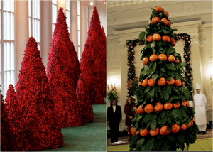 From Orange To Blood Red 80 Years Of White House Christmas Trees In Pictures