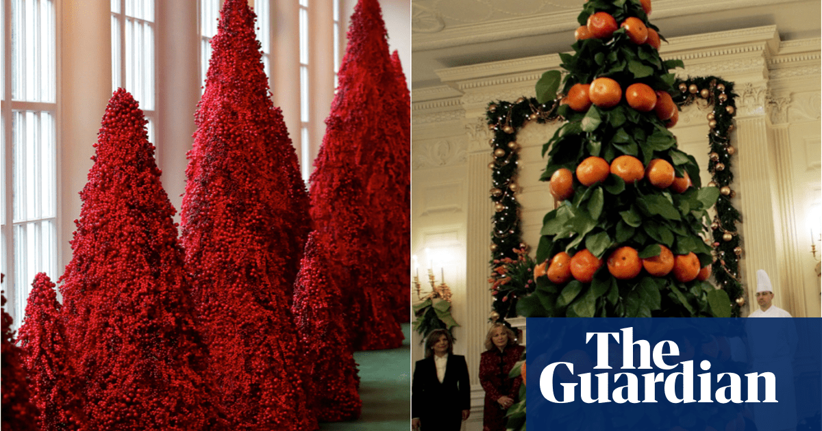 From orange to blood-red: 80 years of White House Christmas