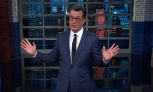 "Stephen Colbert on Trump's 71-minute press conference: ""Seventy-one minutes is not a press conference; it's a one-man show. If you like Fleabag, you'll love Donald Trump in Douchebag."""