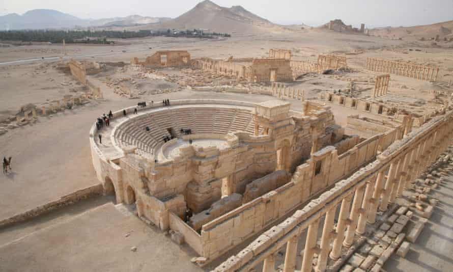 2009 file photo of Palmyra. Assad's regime has lost the historic city but held on to strategic military bases including the airport in Deir Ezzor, the T4 base in eastern Homs and the Tha'ala base in the south, near Deraa.