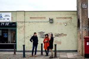 The band Magnetic North (from left, Gawain Erland Cooper, Hannah Peel and Simon Tong).