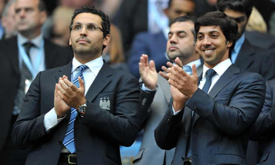 The funding of Manchester City by owner Sheikh Mansour (right), rather than by the club's sponsor Etihad, led to the investigation and subsequent harsh penalties applied by Uefa.