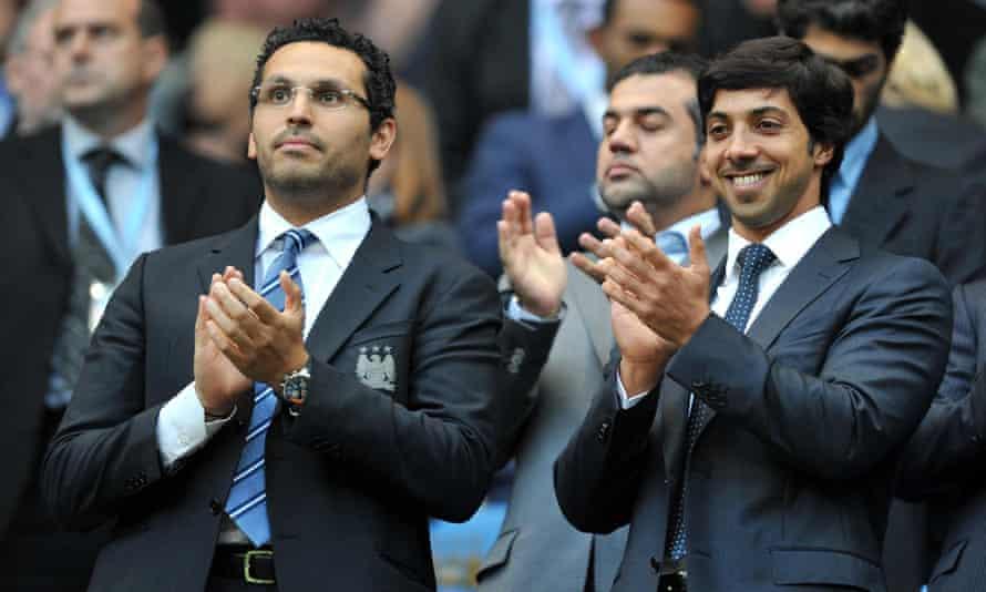 Khaldoon Al Mubarak and Sheikh Mansour