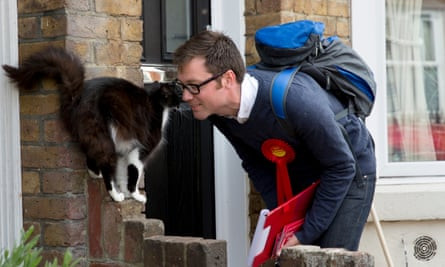 Allen Simpson, a Labour candidate in 2015, canvassing in Maidstone and the Weald.