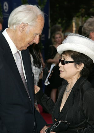 Martin and Yoko Ono at the Grammy Foundation's annual signature Starry Night Gala in 2008.
