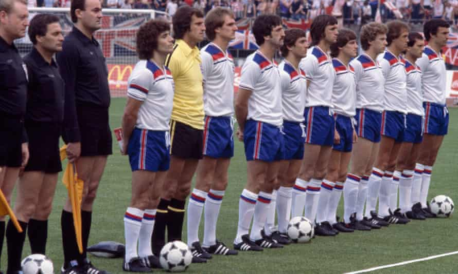 The all-white England team for the 1980 Euros in Italy.