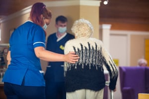 Residents and staff at McClymont House