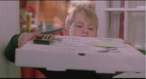 'A lovely cheese pizza, just for me': Macaulay Culkin is Home Alone.