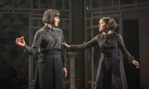 Malvolio became Malvolia, played by Tamsin Greig, left, in Twelfth Night at the National Theatre in 2017. Simon Godin directed and Phoebe Fox, right, was Olivia.