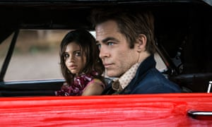 Vanishing point… India Eisley and Chris Pine in I Am The Night