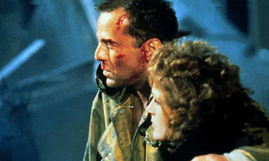 Bruce Willis and Bonnie Bedelia in Die Hard