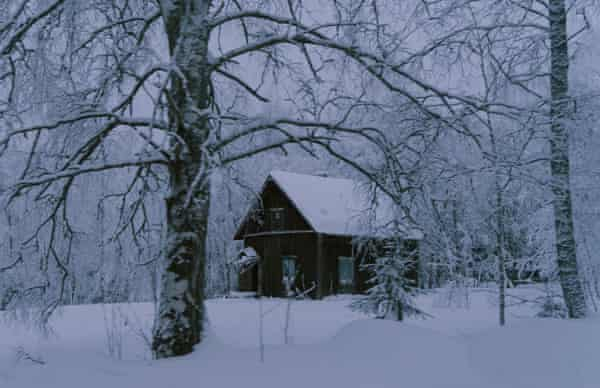 A remote cottage in wolf country in Finland