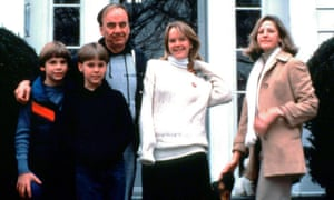 The Murdoch family in the 1980s.
