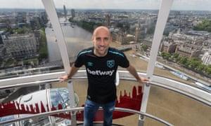 West Ham unveiled Pablo Zabaleta