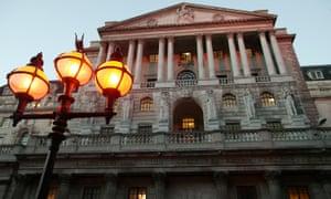 The Bank of England on Threadneedle Street, London.