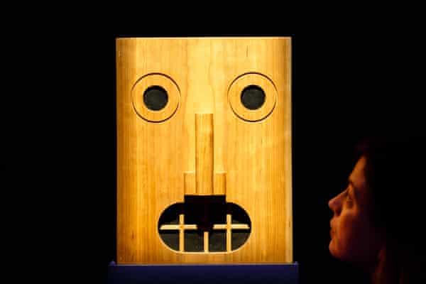 A model of Face House, by Kazumasa Yamashita, at the Barbican.