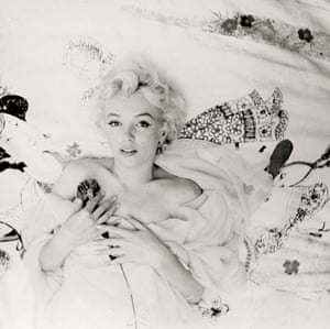 "Monroe was photographed in his Hotel Ambassador suite in New York, after having arrived an hour late. Beaton later wrote that he forgave her for they delay in the moment because ""Her girlish ingenuity and cunningness broke my schemes. They are irresistible"""