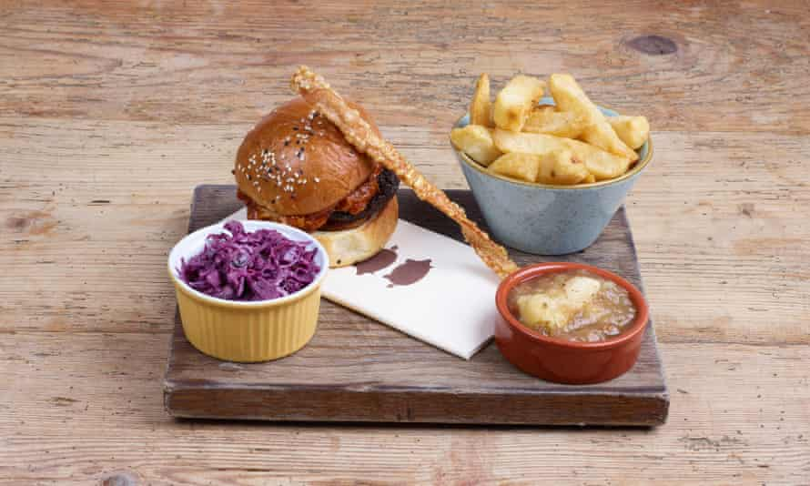 'Use a knife and fork': the Hog Butty.