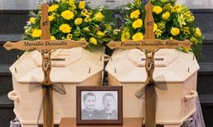 Funeral of Marcelin and Francine Dumoulin in Saviese, Switzerland, last month.