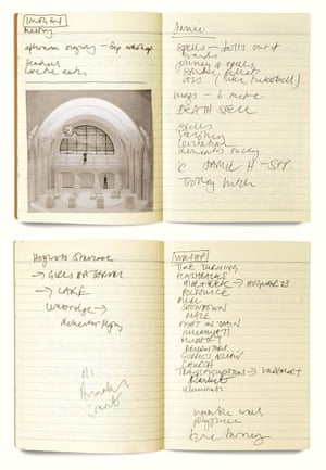 Pages from director John Tiffany's Cursed Child notebooks