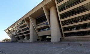 IM Pei and Theodore J Musho's Dallas City Hall in Texas.