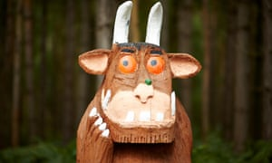 A statue of Donaldson and Scheffler's extraordinarily popular character the Gruffalo.
