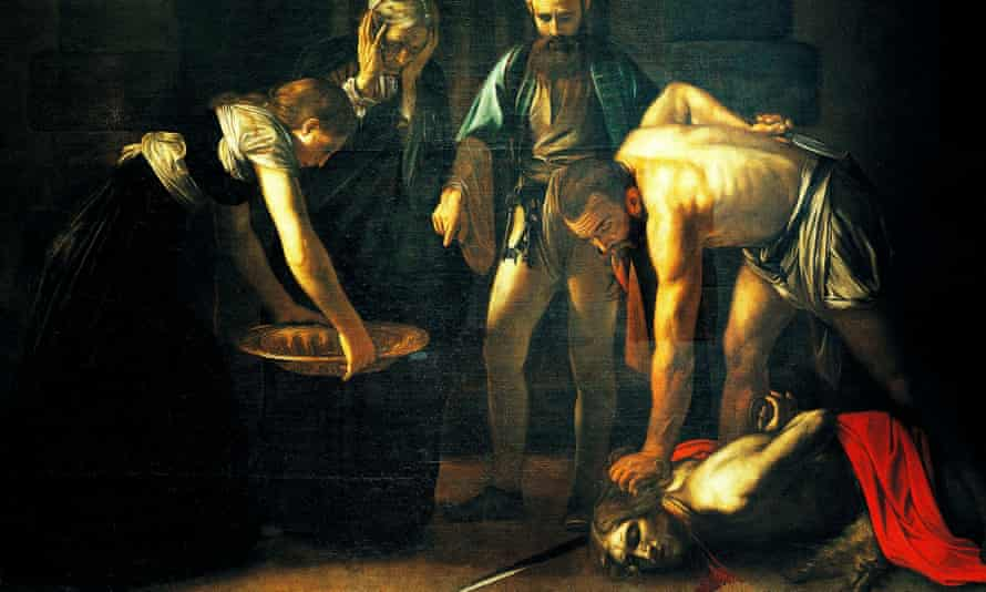 The Beheading of Saint John the Baptist, 1608, by Michelangelo Merisi da Caravaggio (1571-1610), oil on canvas, 370cm x 520cm. Detail.