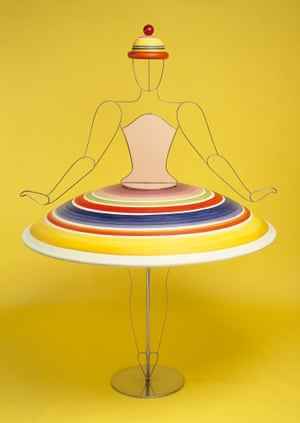The Triadic Ballet, yellow sequence, wide skirt, 1922The production toured Germany throughout the 1920s and popularised the constructed aesthetic of the Bauhaus. A filmed version followed in 1970