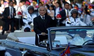 Norodom Sihamoni, king of Cambodia
