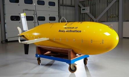 The Boaty McBoatface submarine.