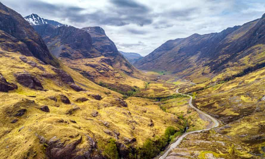 'Pretty challenging': Glen Coe on the West HIghland Way.
