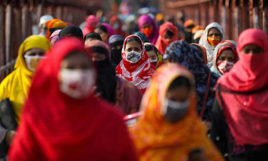 Garment workers in Dhaka, Bangladesh