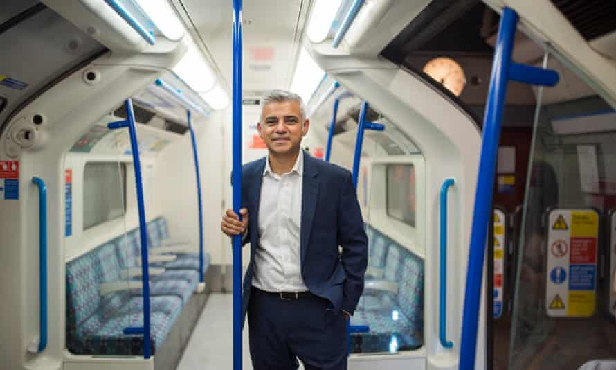 Sadiq Khan on the opening of the night tube on Victoria line in August 2016.