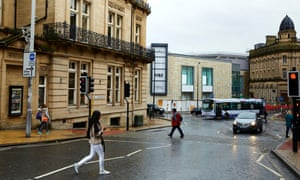The Broadway shopping centre stands amid period buildings in the middle of Bradford.