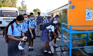 Schoolchildren in Dili, Timor Leste