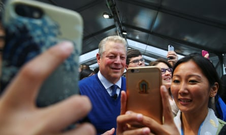 Al Gore at the climate summit in Bonn. Gore has emerged as one of the leading voices in the fight against climate change.