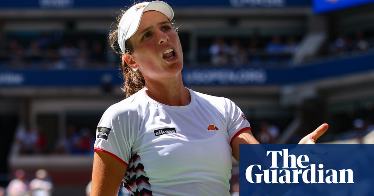 Johanna Konta teases Elina Svitolina but errors end US Open dream