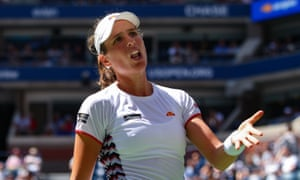 Johanna Konta was left frustrated as unforced errors cost her a semi-final place at a fourth different grand slam.