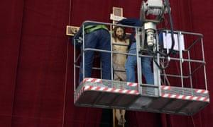 Workers in the Vatican.
