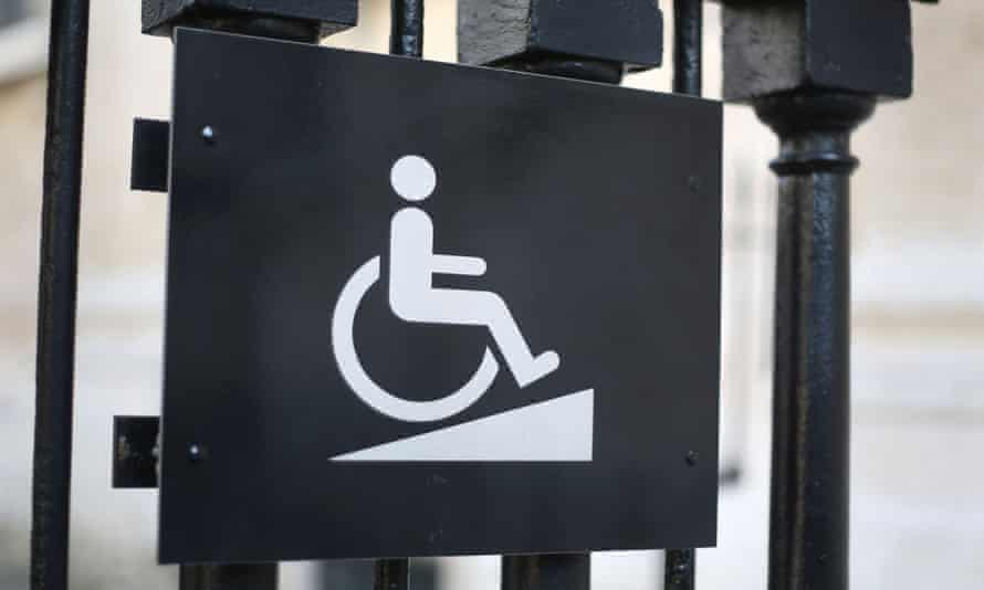 A sign for disabled access