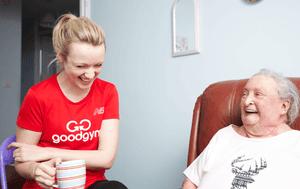 Emily Berrington, a GoodGym runner, visits Janet in east London